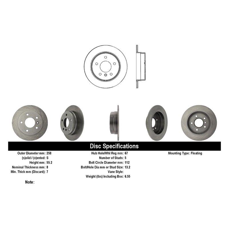Centric 121.99032 C-Tek Brake Rotor