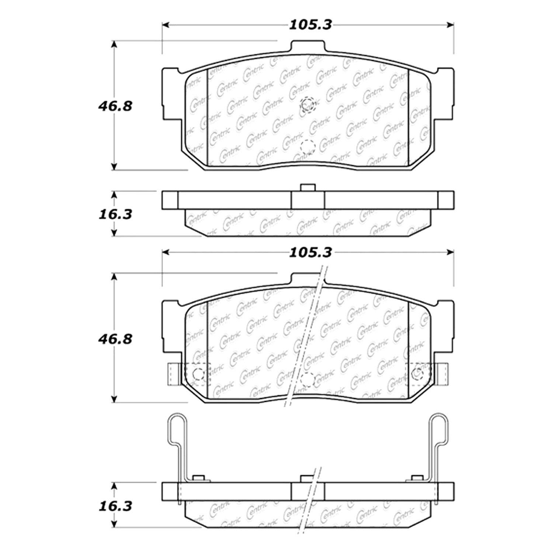 Centric Parts 300.05270 Semi Metallic Brake Pad with Shim