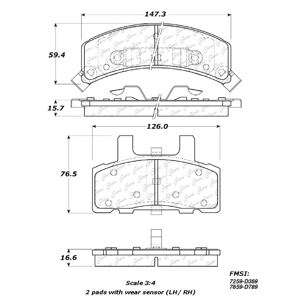 StopTech 301.08030 Premium Brake Pad