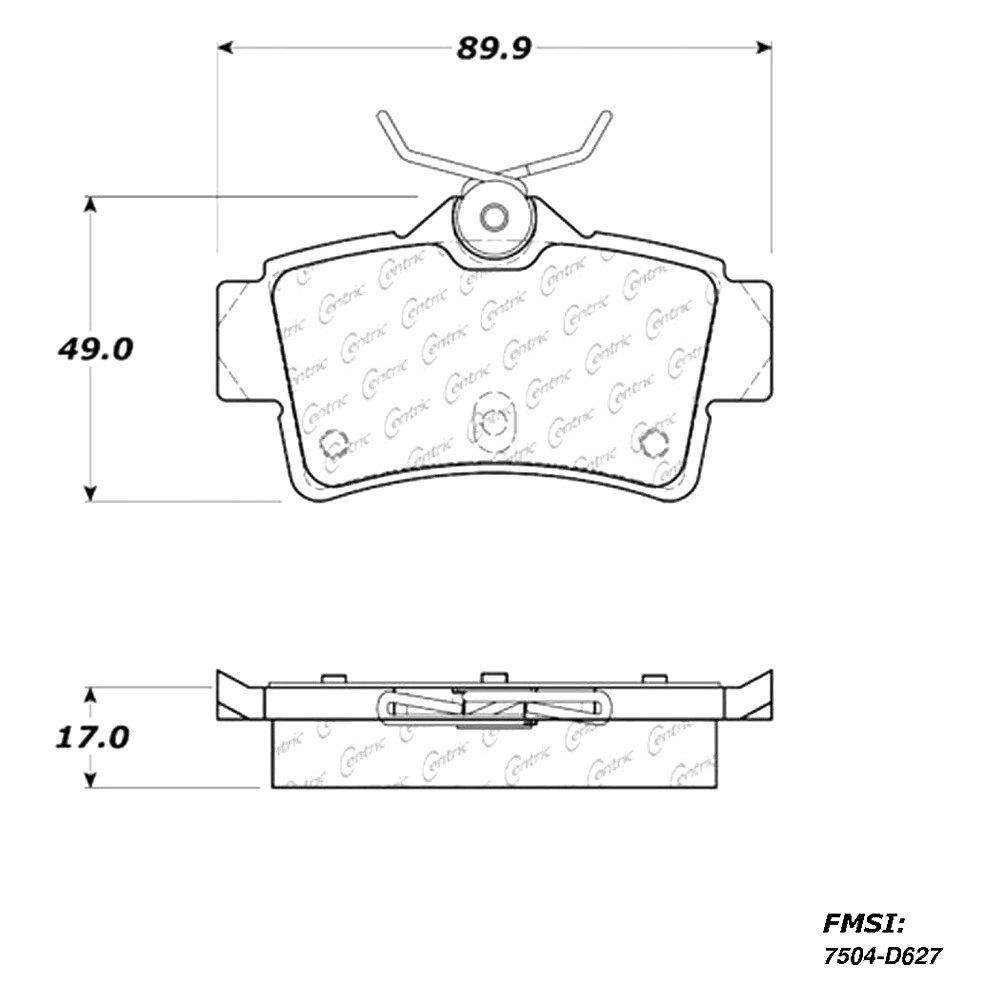 Centric 301.07220 Ceramic Brake Pad