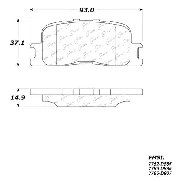 Ceramic Centric 301.08850 Brake Pad