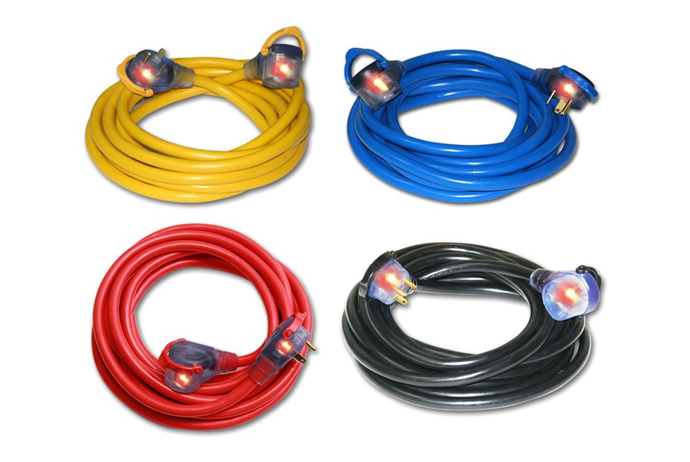 Century Wire® D19013050 - 50\' 30 Amp 10/3 Yellow Cord Extension RV