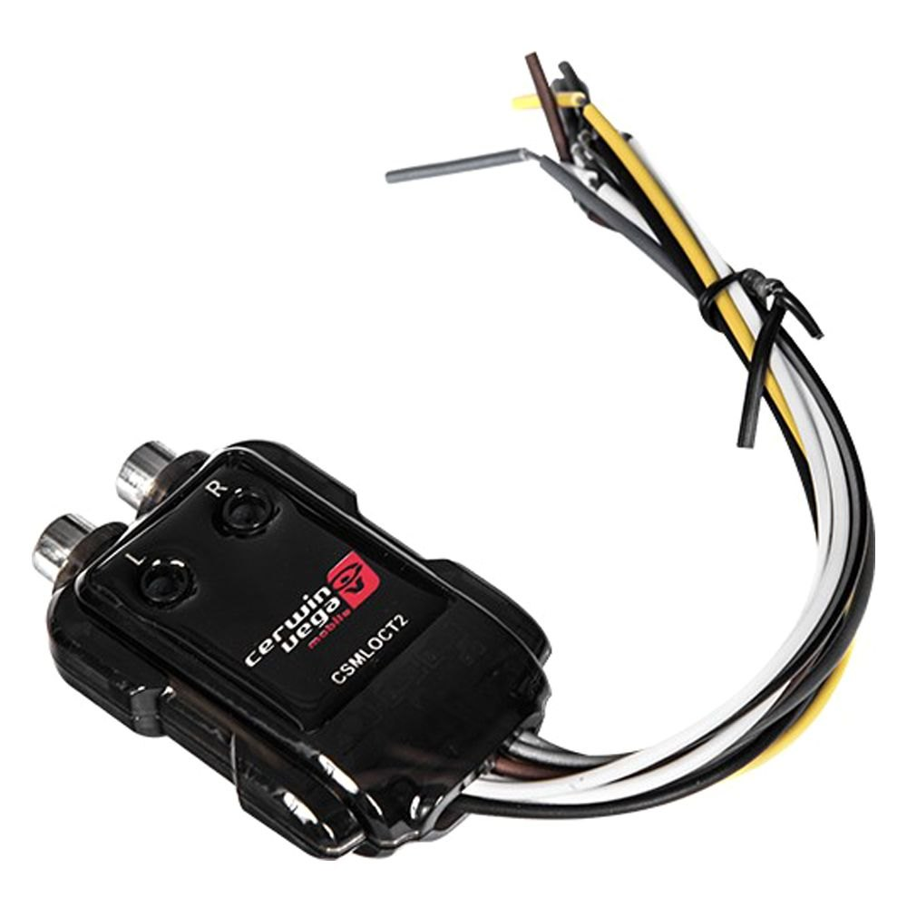 Cerwin-Vega® CSMLOCT2 - Stroker Series 2-Channel Mini Line-Out Converter  with Trigger