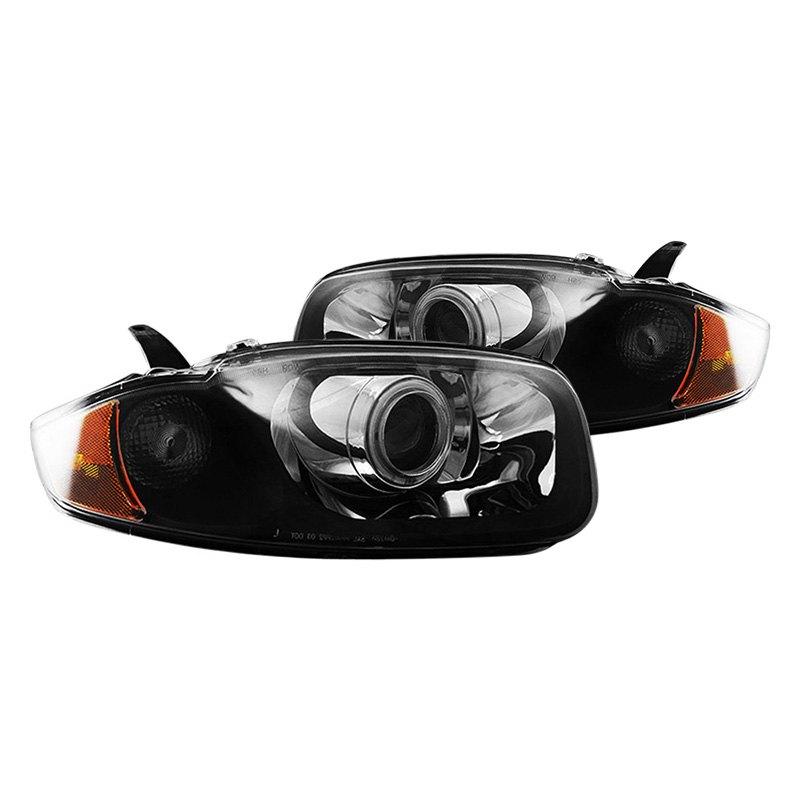 Cg 174 Chevy Cavalier 2004 Black Halo Projector Led Headlights