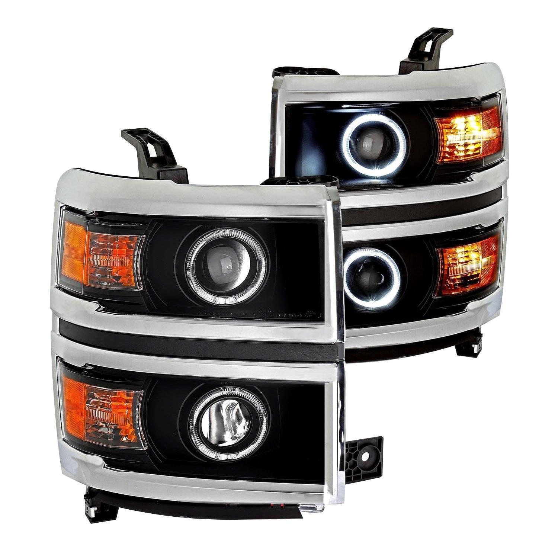 CG® - Chevy Silverado 1500 2014 Black LED Halo Projector ...