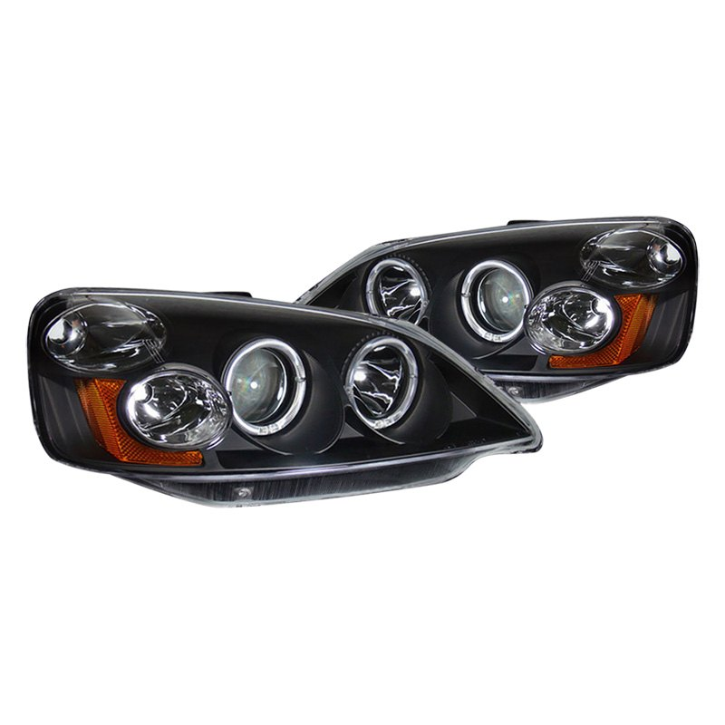cg honda civic 2002 black halo projector led headlights. Black Bedroom Furniture Sets. Home Design Ideas