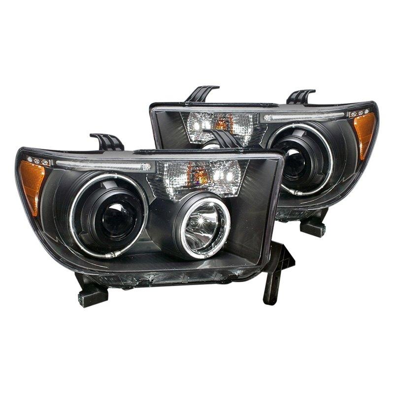 07 08 Toyota Sequoia Halo Headlights Black Halo Ccfl Head