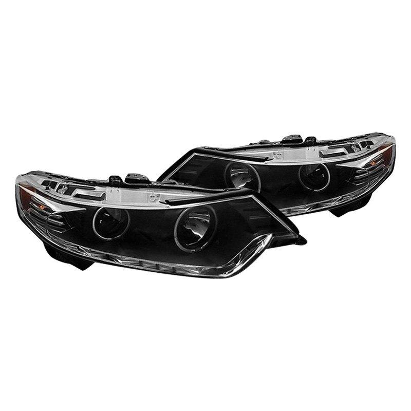 Acura TSX 2009 Black CCFL Halo Projector Headlights