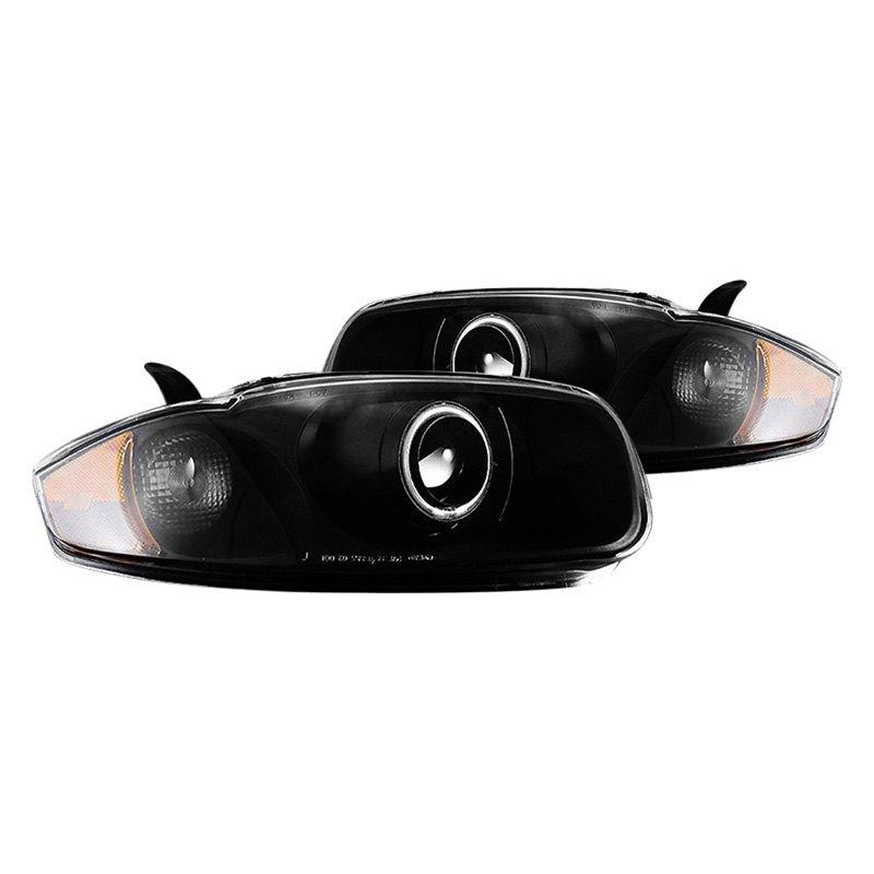 Cg 174 Chevy Cavalier 2005 Black Led Halo Projector Headlights