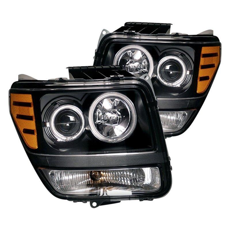 Dodge Nitro 2008 Black CCFL Halo Projector Headlights