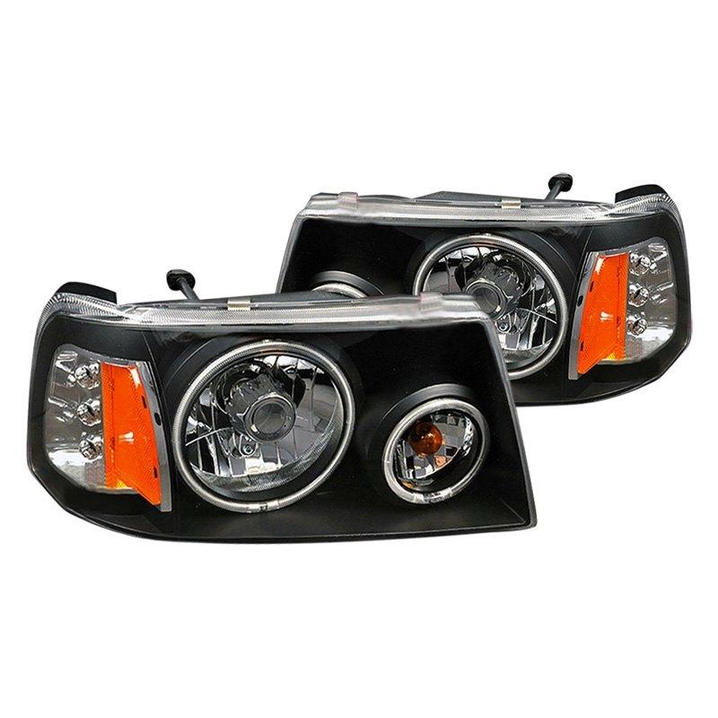 For Ford Ranger 01 09 Cg Black Ccfl Halo Euro Headlights W