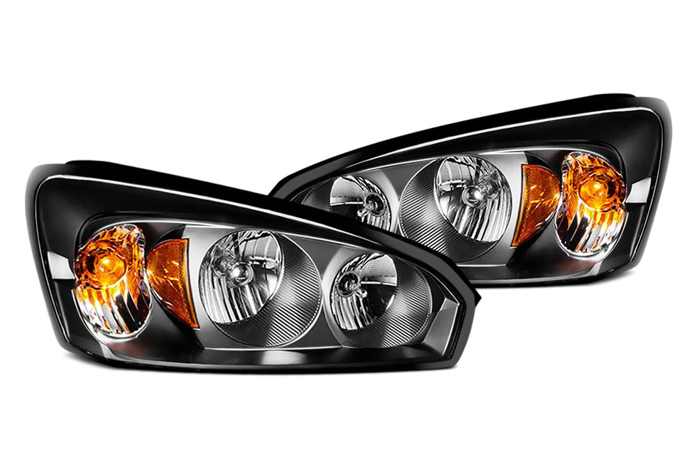 CG 02-AZ-DR94-PBC-R-A Black Halo Projector Headlights w Parking LEDs