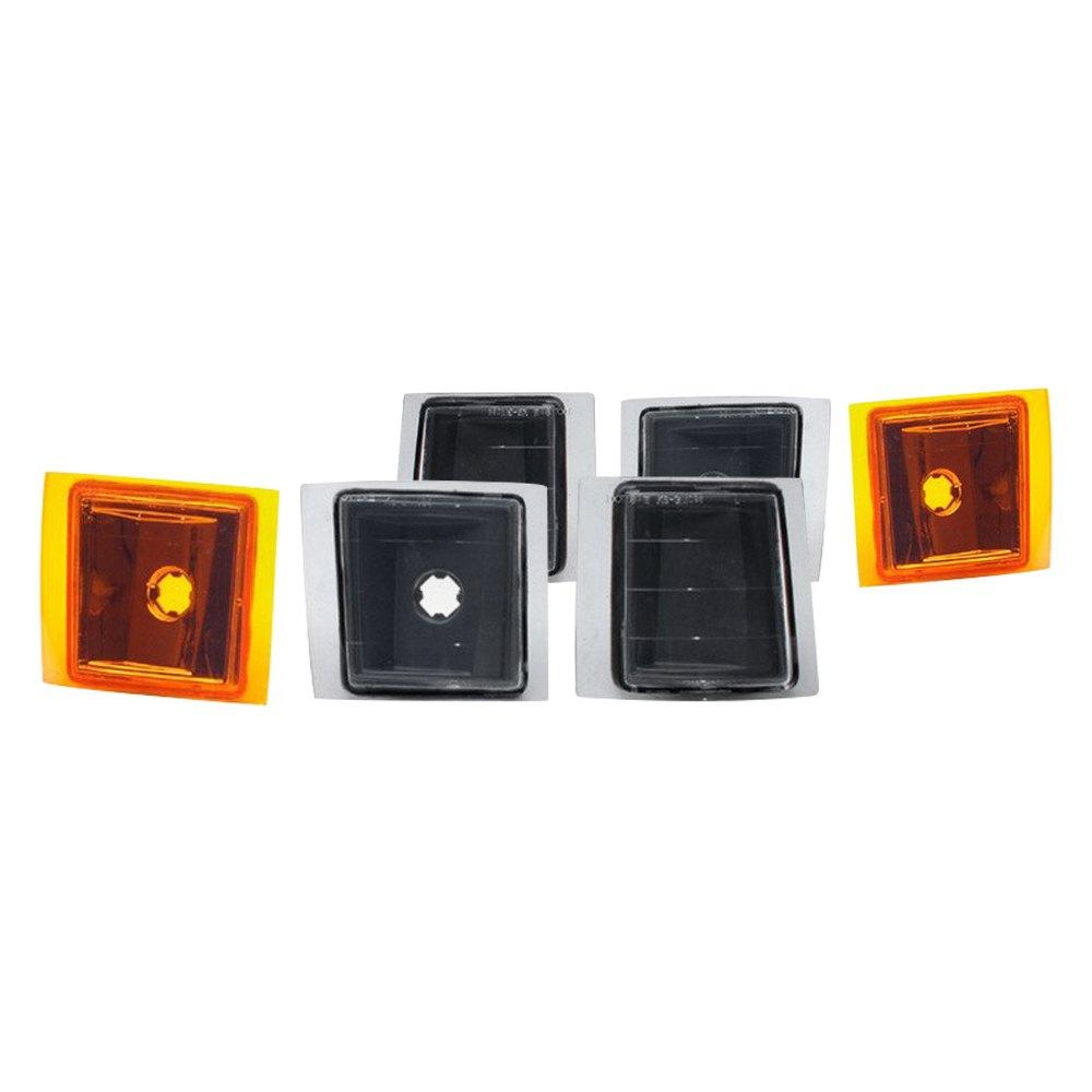 Silverado Led Lights : ... Silverado 2003-2006 Black/Amber Euro LED Signal Lights with Amber