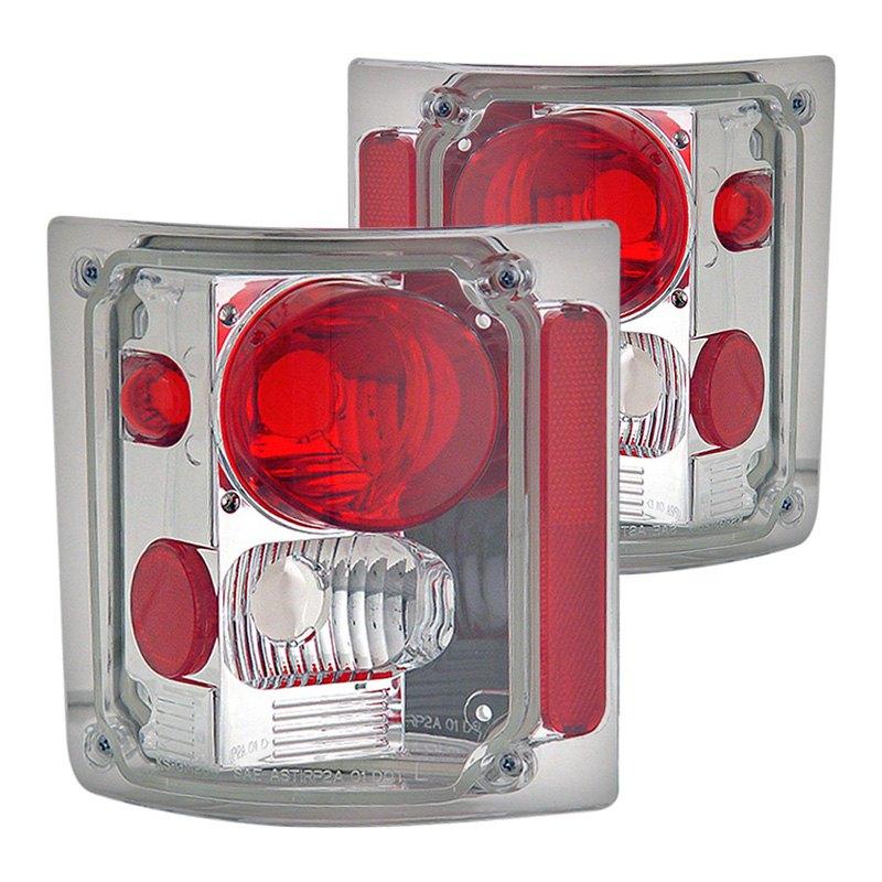 For Chevy R10 1987 CG 03-CF7387TLASM Chrome Red//Smoke Euro Tail Lights