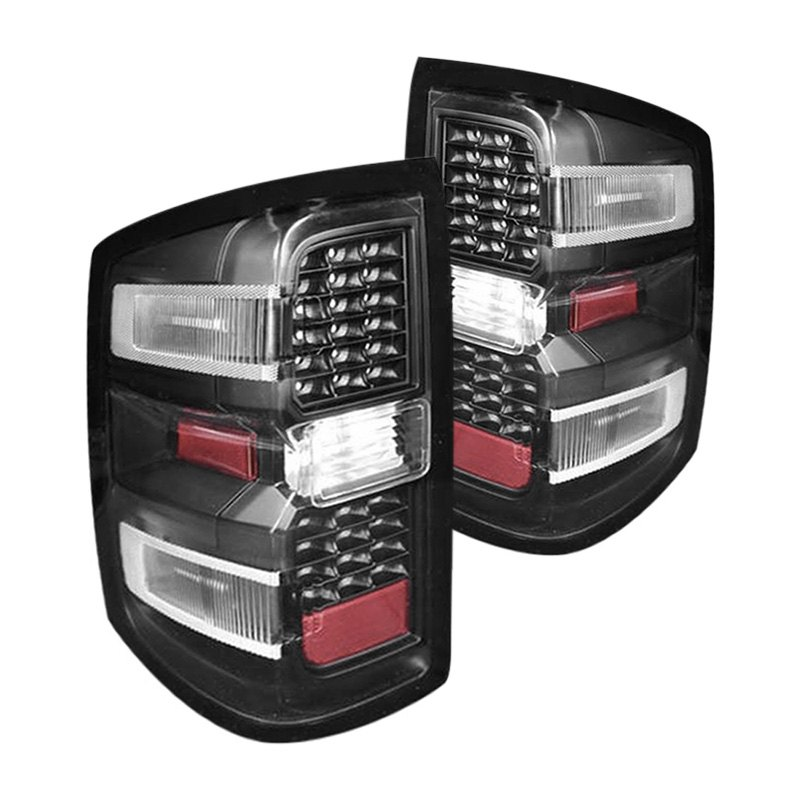 cg 03 cl14tledjm chevy silverado 2014 black led tail lights. Black Bedroom Furniture Sets. Home Design Ideas
