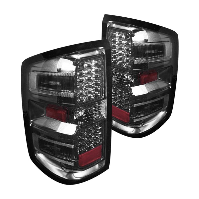 cg 03 cl14tledsm chevy silverado 2014 chrome smoke led tail lights. Black Bedroom Furniture Sets. Home Design Ideas
