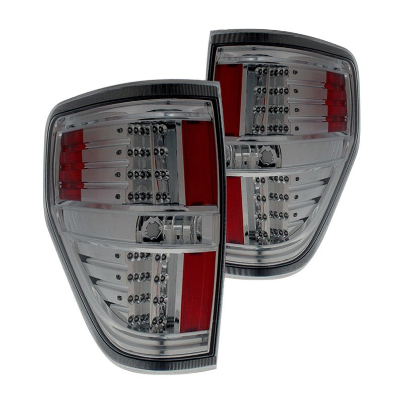 cg 03 ff09tledsm ford f 150 2009 2014 chrome smoke led tail lights. Black Bedroom Furniture Sets. Home Design Ideas