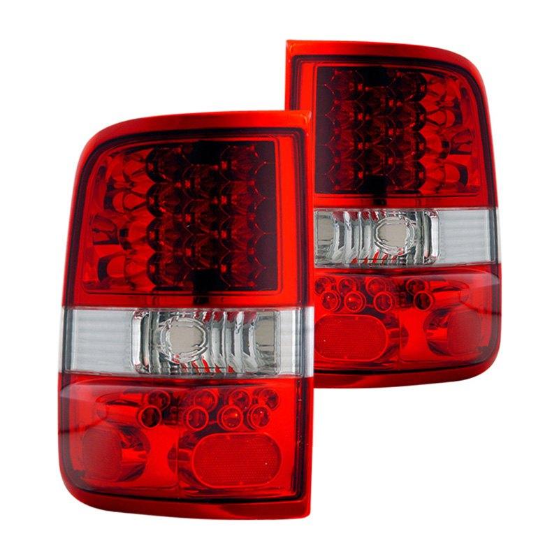 cg 03 ff2004led ford f 150 2005 chrome red led tail lights. Black Bedroom Furniture Sets. Home Design Ideas