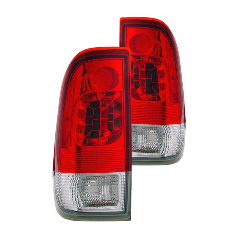 cg 03 ff9701led ford f 150 2001 chrome red led tail lights. Black Bedroom Furniture Sets. Home Design Ideas