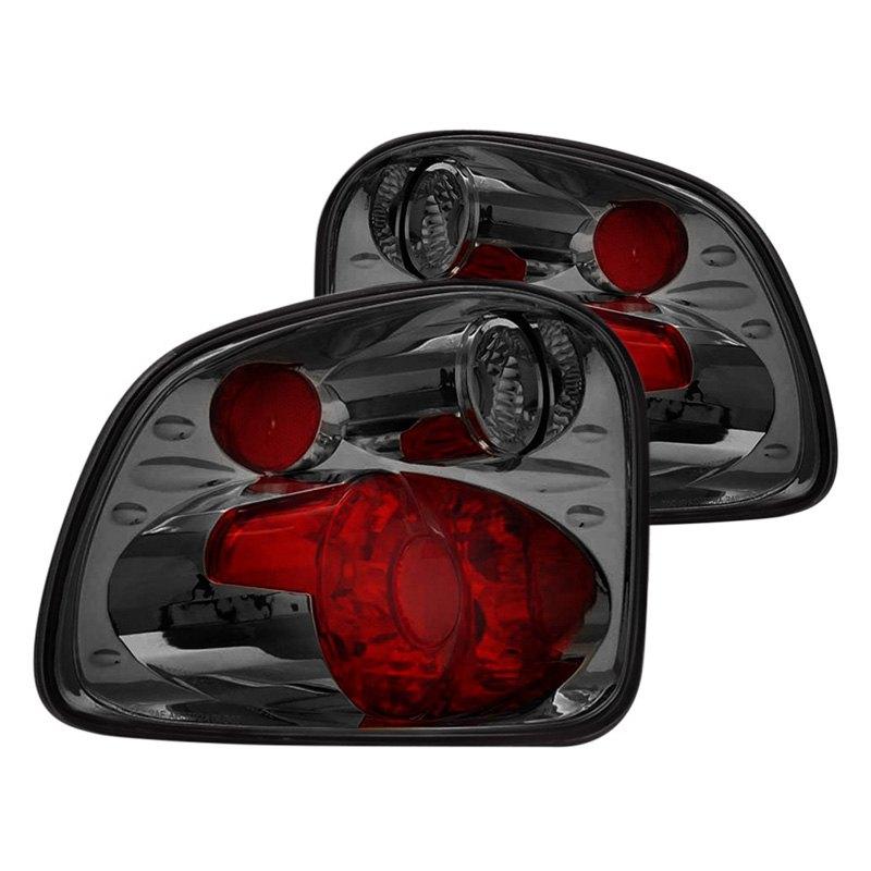 03 ffs9701tlag2sm ford f 150 2001 chrome red smoke euro tail lights. Black Bedroom Furniture Sets. Home Design Ideas