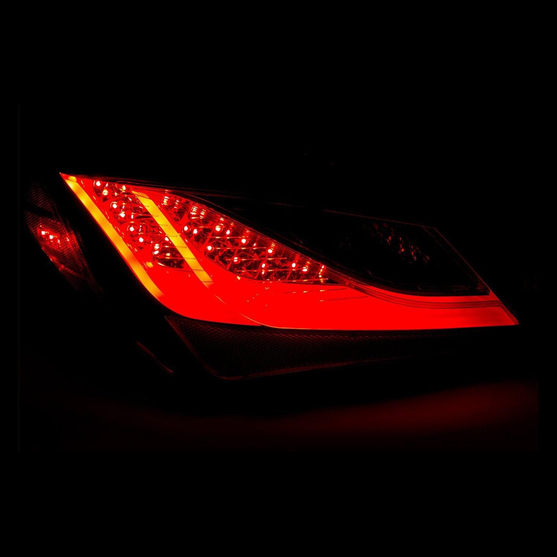 for hyundai genesis coupe 2010 2013 cg chrome red fiber optic led tail lights ebay. Black Bedroom Furniture Sets. Home Design Ideas
