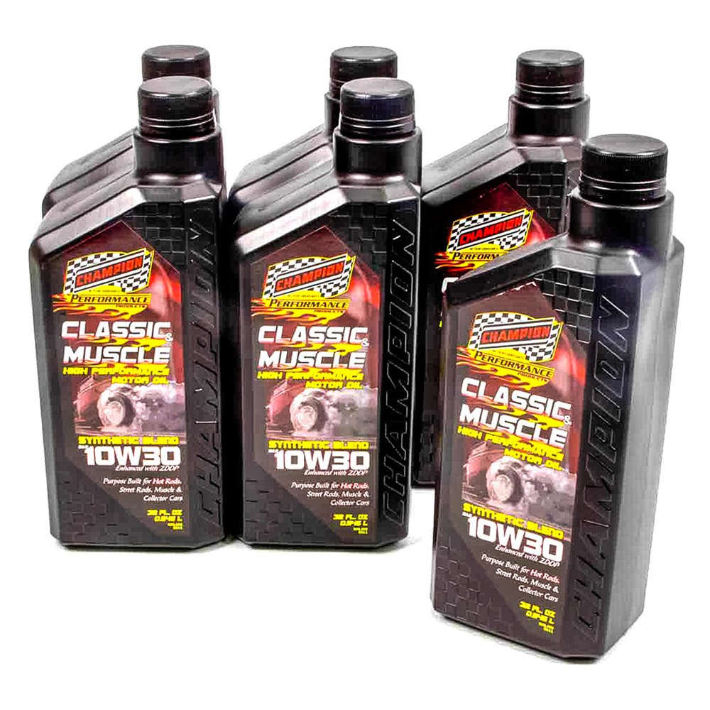 Champion brands 4130h classic muscle sae 10w 30 for Racing motor oil brands