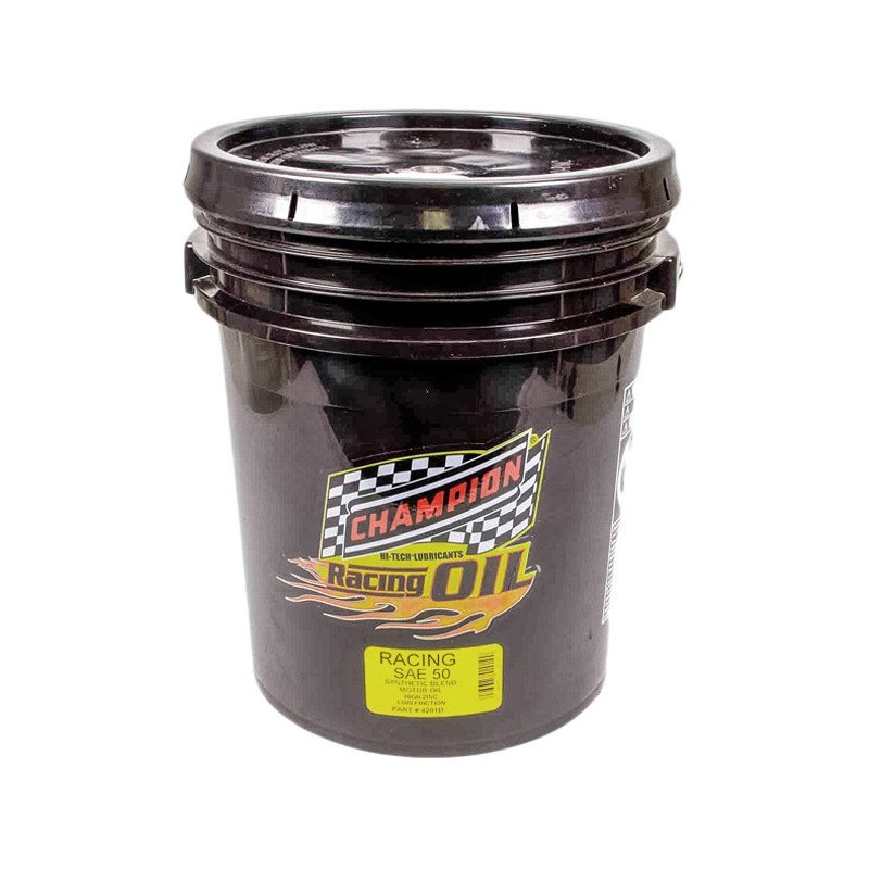 Champion Brands 4201d Sae 50 Synthetic Blend Racing Motor Oil 5 Gallons