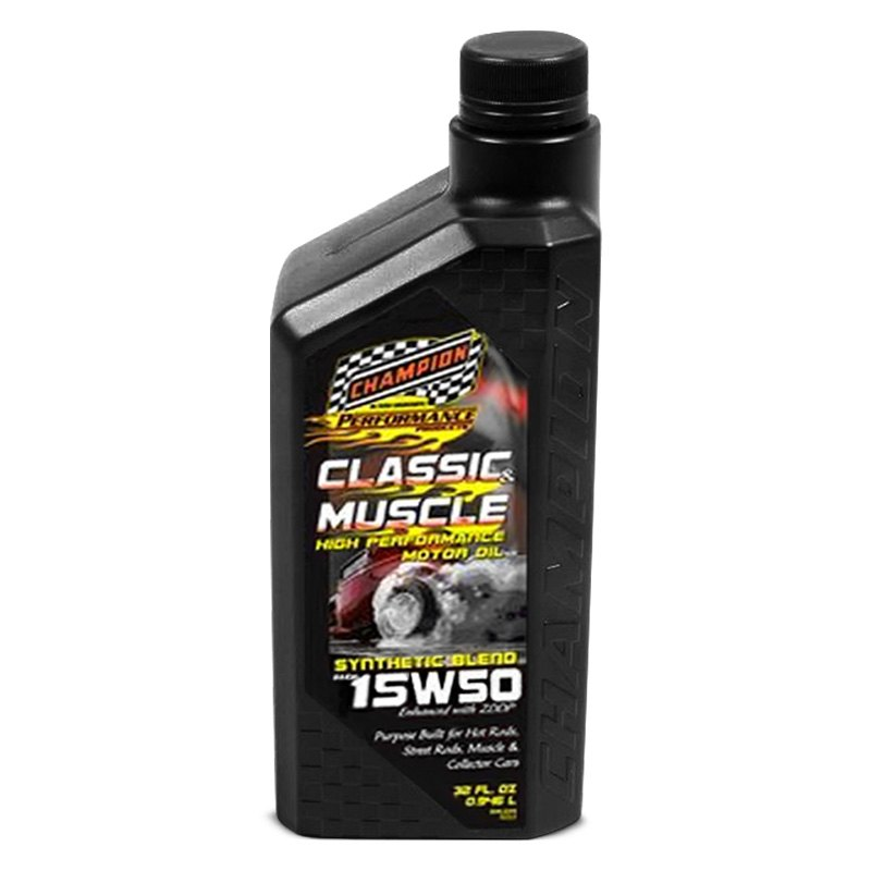 Champion brands classic muscle full synthetic 15w 50 for Racing motor oil brands