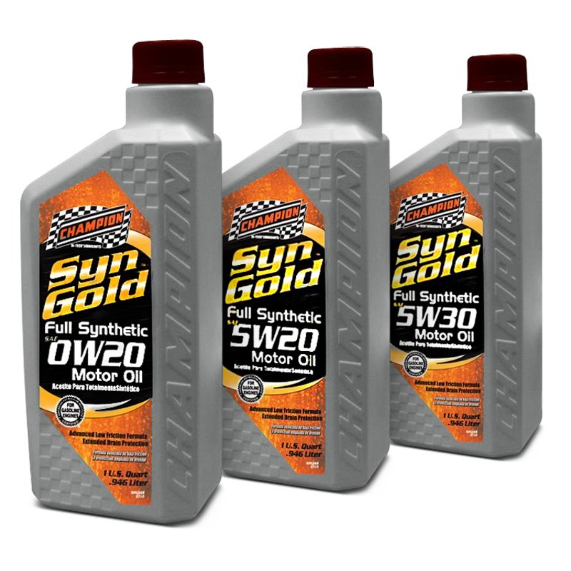 Champion Brands Syngold Full Synthetic Motor Oil Sn Gf 5