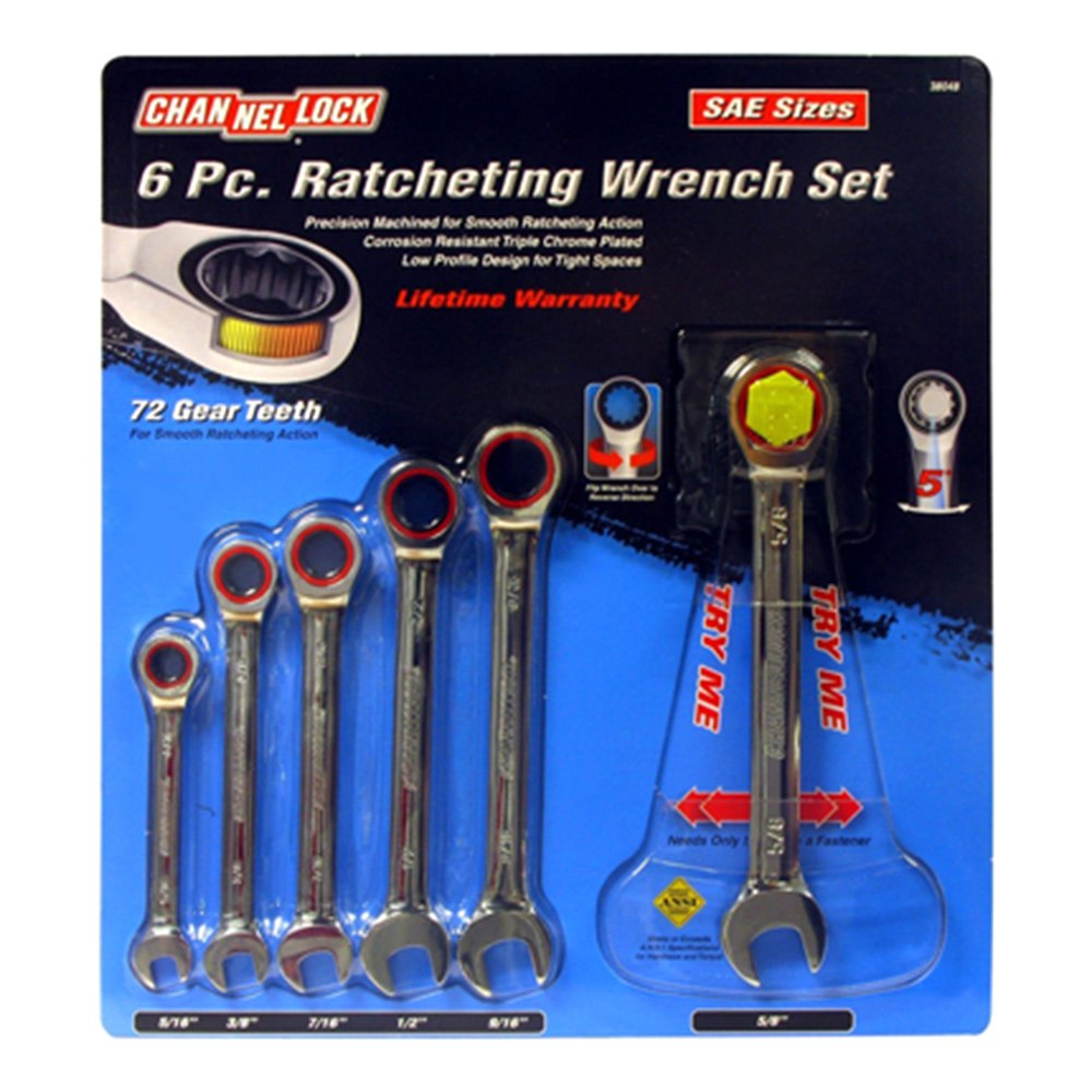 Channellock® 38048 - SAE Ratcheting Wrench Set