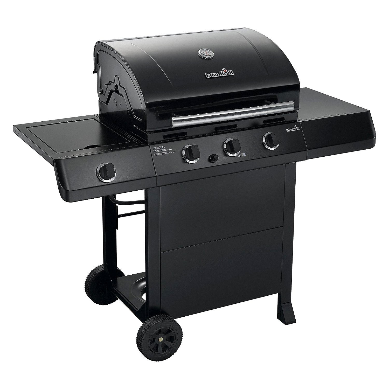 char broil 463334614 classic 3 burner gas grill with sideburn. Black Bedroom Furniture Sets. Home Design Ideas