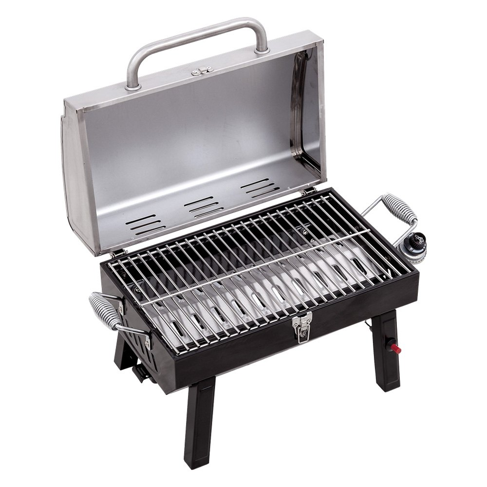 Portable Gas Grill : Char broil  stainless portable gas grill