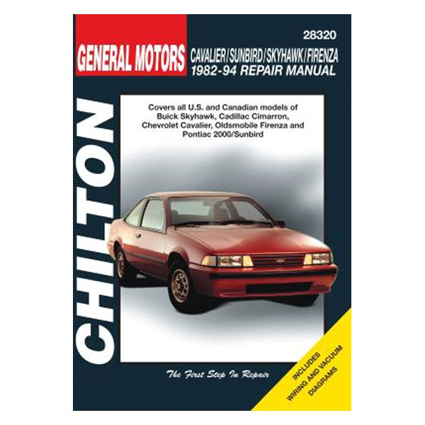 Chilton 28320 General Motors Cavalier Sunbird Skyhawk