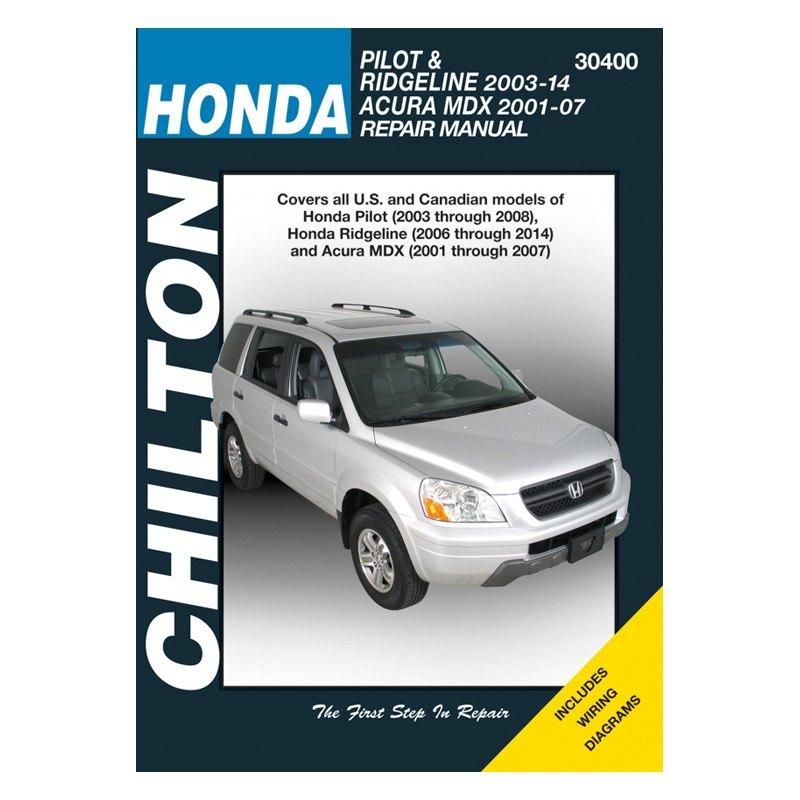 Honda Pilot/Ridgeline/Acura MDX Repair Manual