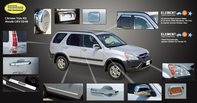 Honda Crv. Honda CR-V Trim Chrome - 2002