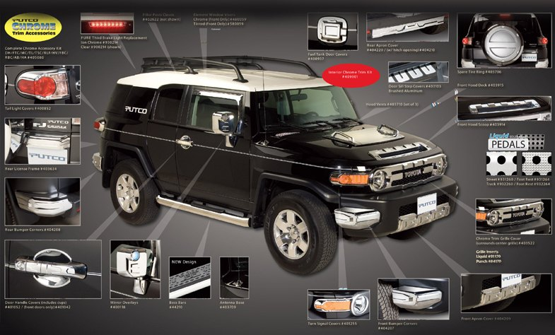 2011 TOYOTA FJ CRUISER CHROME