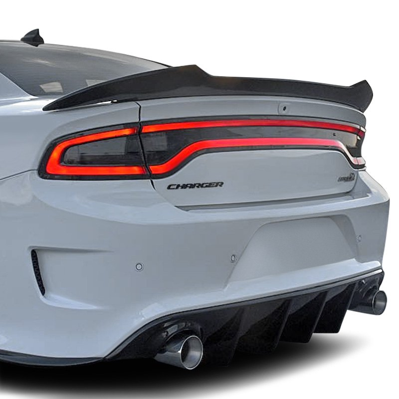 Chrome carbon dodge charger 2017 spoiler - 2017 dodge charger interior accessories ...