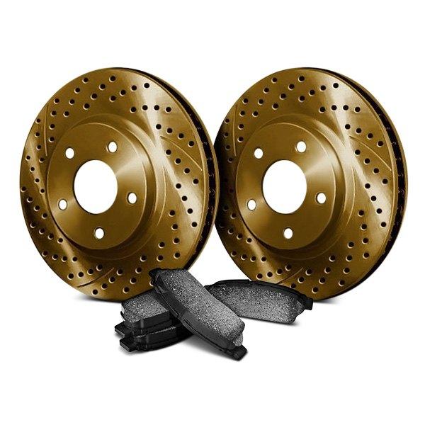 chrome brakes nissan rogue 2008 2013 drilled and slotted brake kit. Black Bedroom Furniture Sets. Home Design Ideas