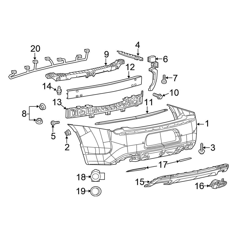 For Chrysler 300 2015-2019 K-Metal 121542J Front Bumper Cover