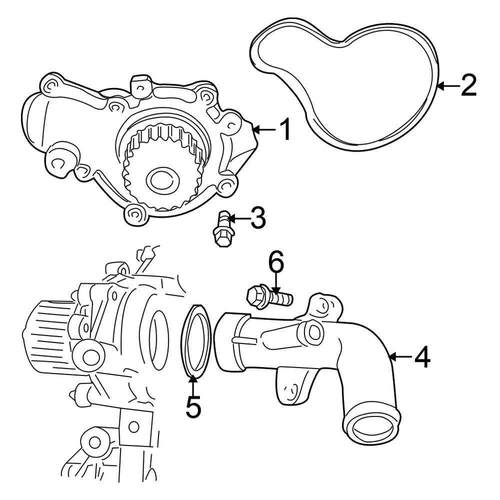 Engine Water Pump Mopar 4694307AF