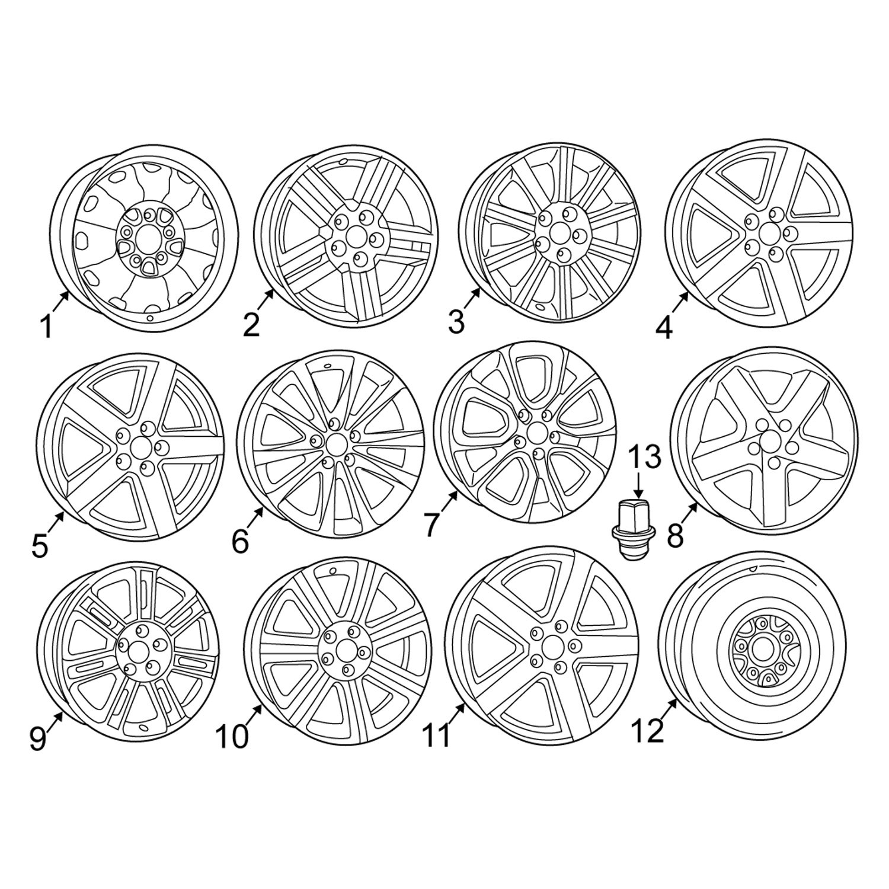 For Chrysler 200 2011-2014 Chrysler 1AN34XZAAD Wheel