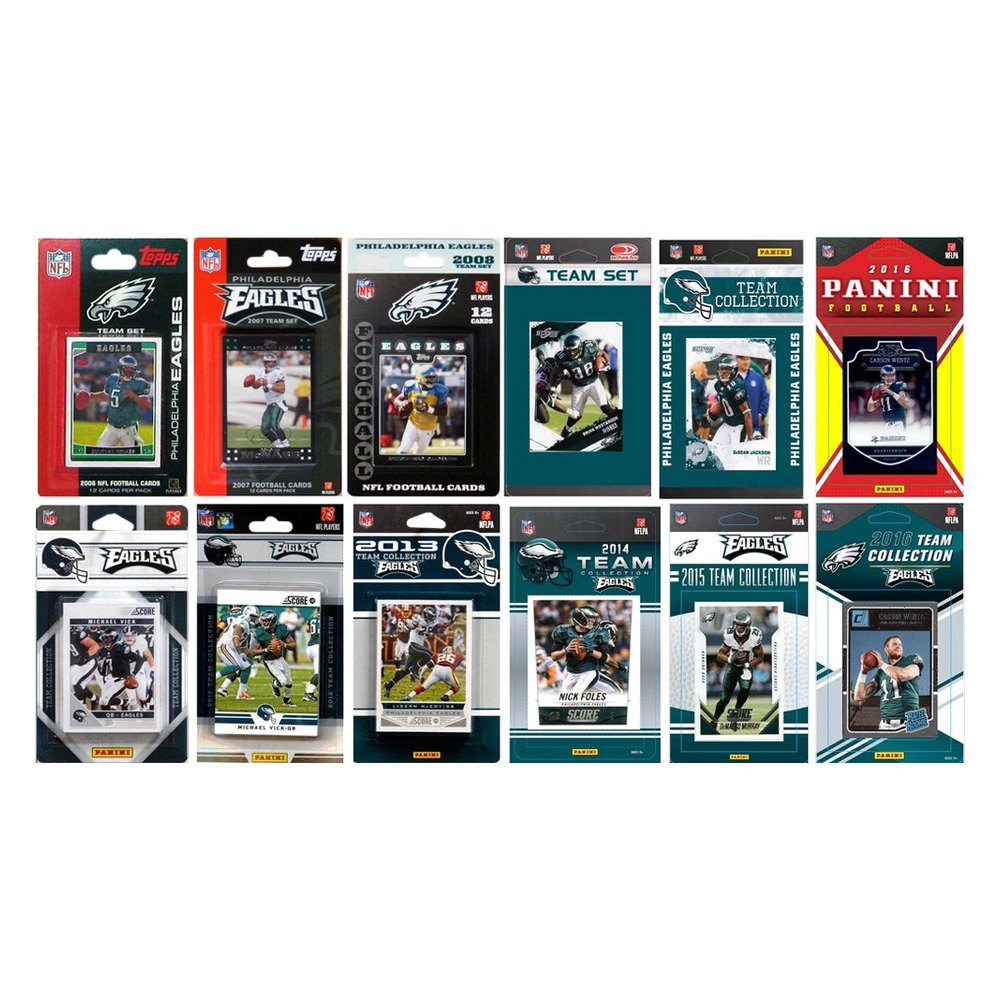 new concept 8fe22 32c66 C&I Collectibles® EAGLES1216TS - NFL Philadelphia Eagles Licensed Trading  Card Team Sets