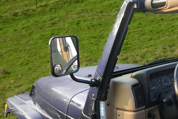 Cipa 174 Jeep Cj Style Replacement Mirrors