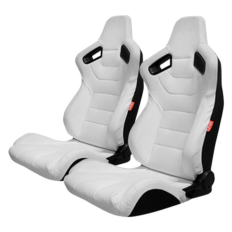 cipher auto cpa2009pcfwh cpa2009 series reclinable steel tubular frame racing seats white. Black Bedroom Furniture Sets. Home Design Ideas