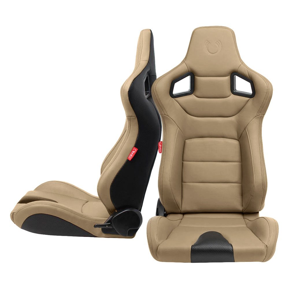 Cipher Auto Cpa2001 Euro Series Beige Leatherette Racing Seats Ebay