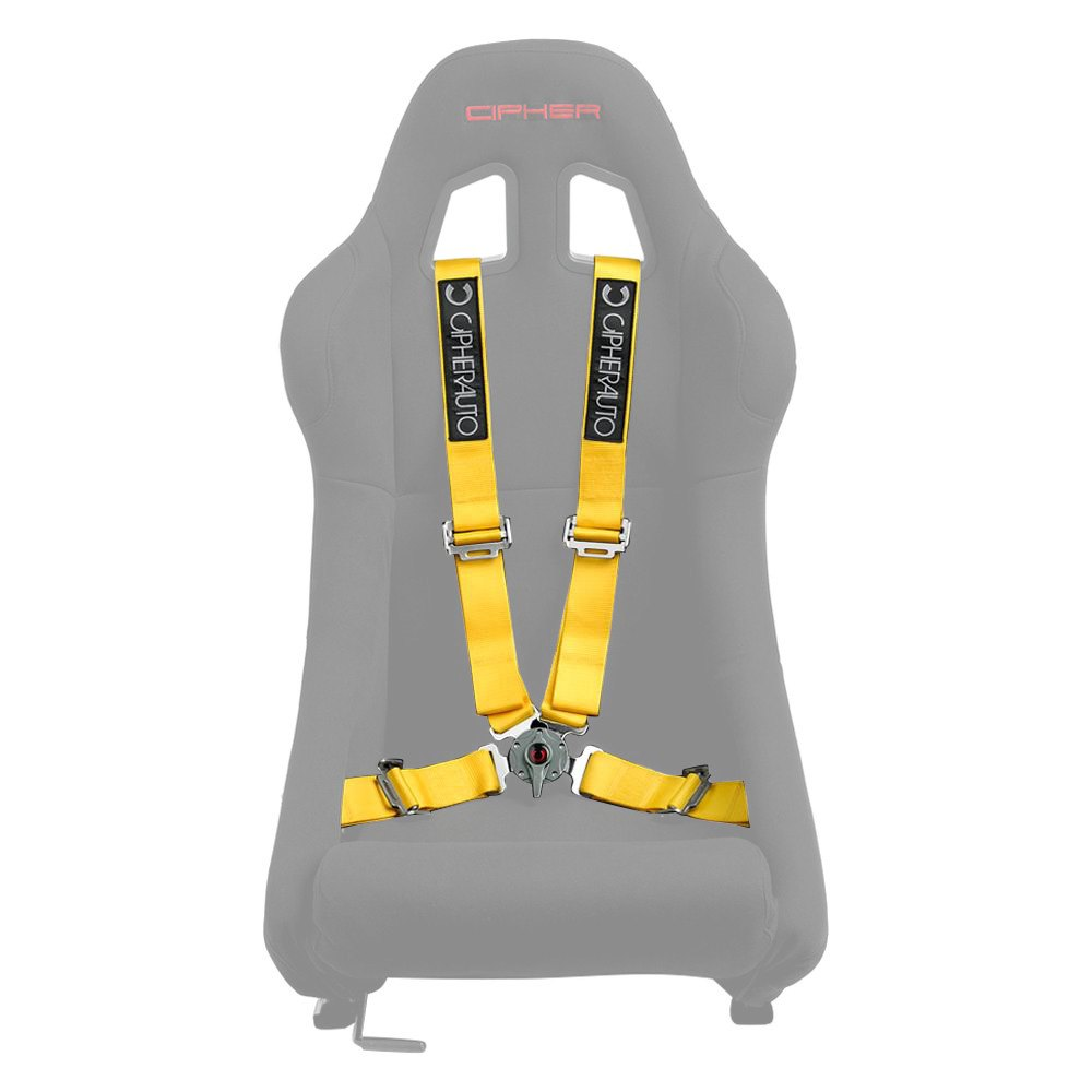 cipher auto cpa4001yl 4 points camlock racing harness set yellow ebay. Black Bedroom Furniture Sets. Home Design Ideas