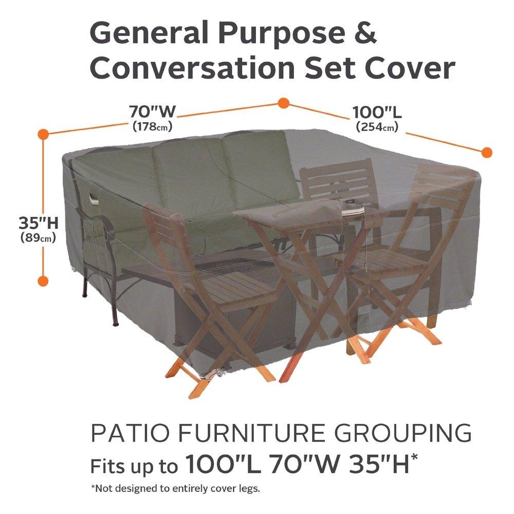 Classic Accessories 55 457 EC Ravenna™ Patio Furniture Set Cover