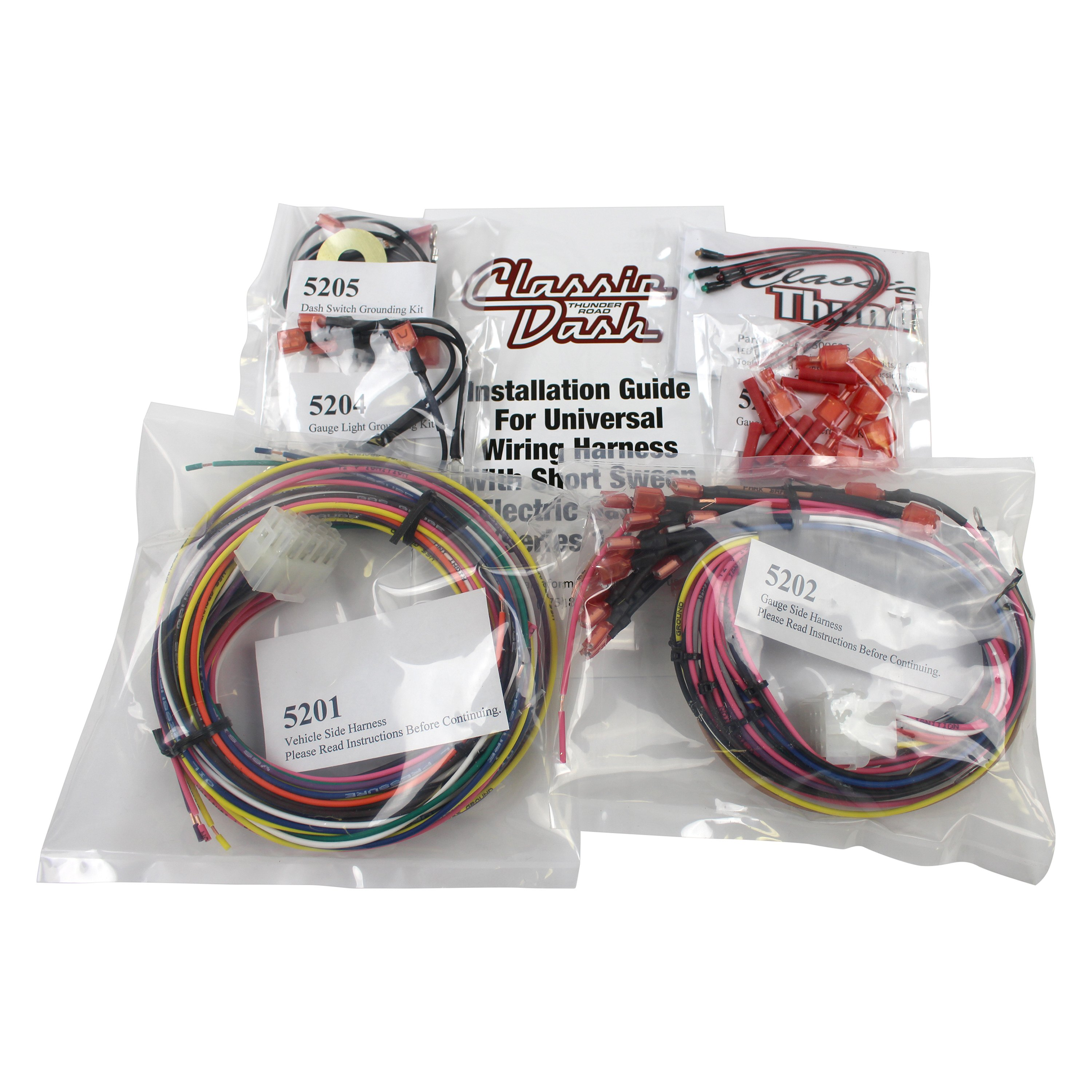 110 67 5200 classic dash® 110 67 5200 wiring harness complete with led kit