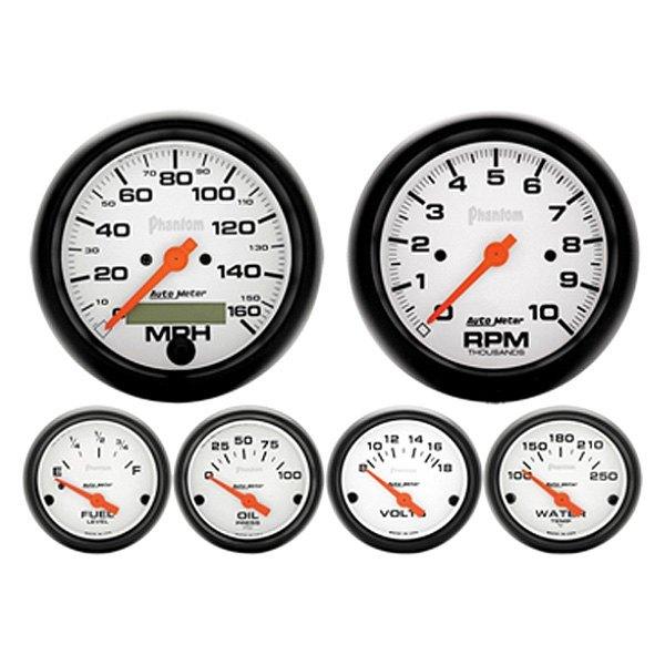 Electronic Auto Gauge Set : Classic dash auto meter gauge set