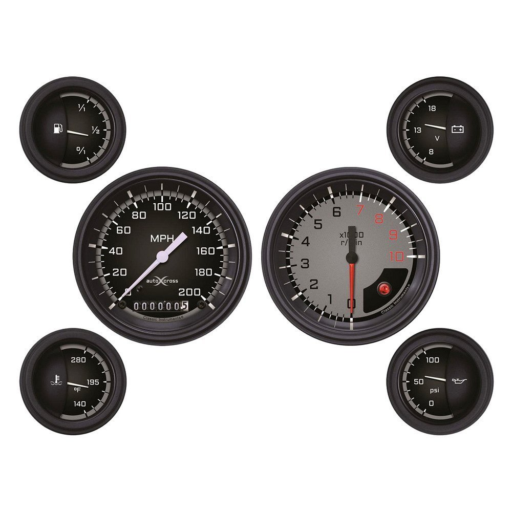 Automotive Gauge Sets : Classic instruments ax gblf auto cross series gauge sets